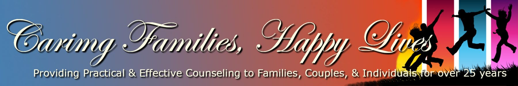 Caring Families, Happy Lives Banner